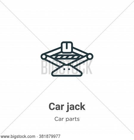 Car jack icon isolated on white background from car parts collection. Car jack icon trendy and moder