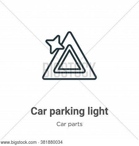 Car parking light icon isolated on white background from car parts collection. Car parking light ico