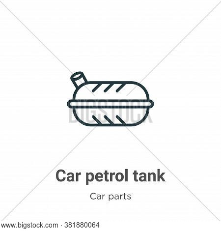 Car petrol tank icon isolated on white background from car parts collection. Car petrol tank icon tr