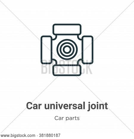 Car universal joint icon isolated on white background from car parts collection. Car universal joint