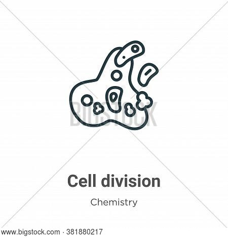 Cell division icon isolated on white background from chemistry collection. Cell division icon trendy