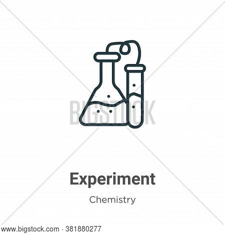 Experiment icon isolated on white background from chemistry collection. Experiment icon trendy and m