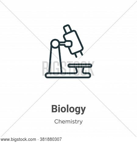 Biology icon isolated on white background from chemistry collection. Biology icon trendy and modern