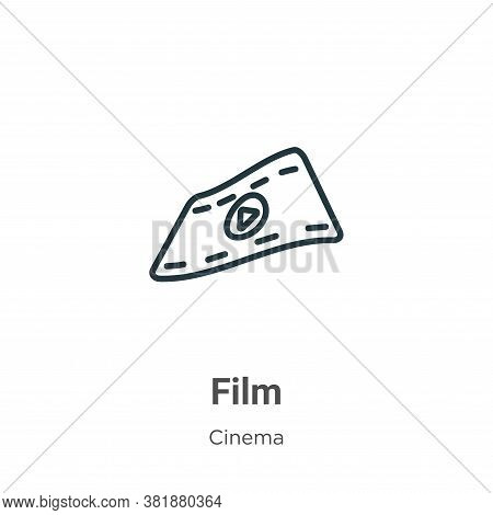 Film icon isolated on white background from cinema collection. Film icon trendy and modern Film symb