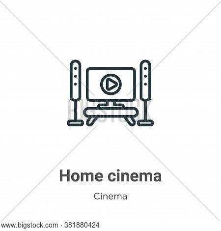 Home cinema icon isolated on white background from cinema collection. Home cinema icon trendy and mo