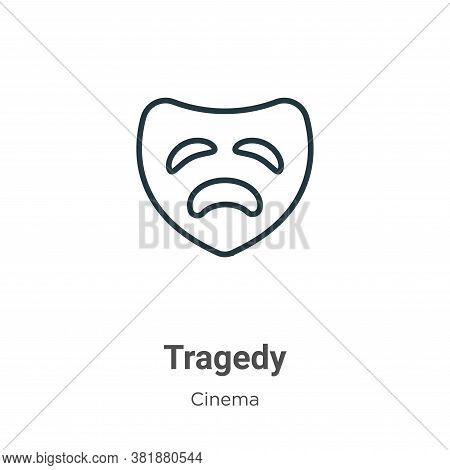 Tragedy Icon From Cinema Collection Isolated On White Background.
