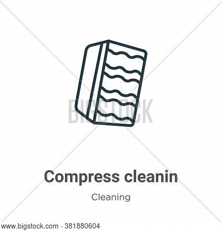 Compress cleanin icon isolated on white background from cleaning collection. Compress cleanin icon t