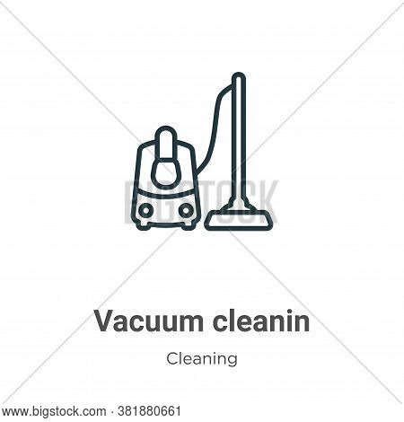 Vacuum cleanin icon isolated on white background from cleaning collection. Vacuum cleanin icon trend