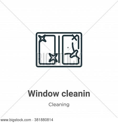 Window cleanin icon isolated on white background from cleaning collection. Window cleanin icon trend