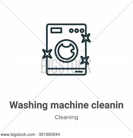 Washing machine cleanin icon isolated on white background from cleaning collection. Washing machine