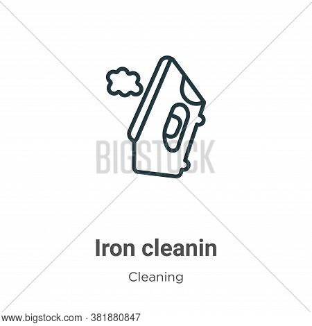 Iron cleanin icon isolated on white background from cleaning collection. Iron cleanin icon trendy an
