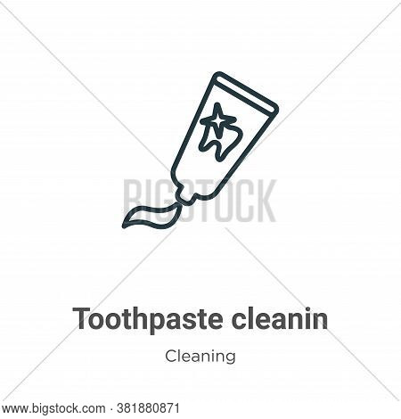 Toothpaste cleanin icon isolated on white background from cleaning collection. Toothpaste cleanin ic