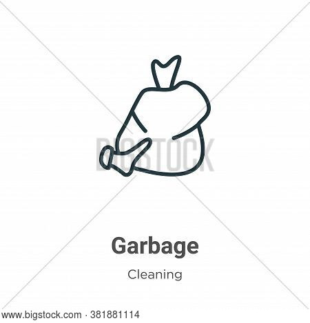 Garbage icon isolated on white background from cleaning collection. Garbage icon trendy and modern G
