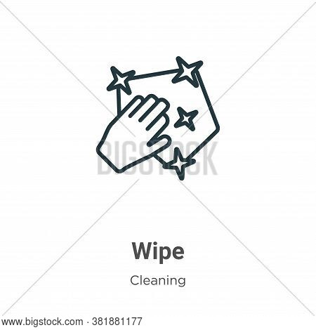 Wipe icon isolated on white background from cleaning collection. Wipe icon trendy and modern Wipe sy