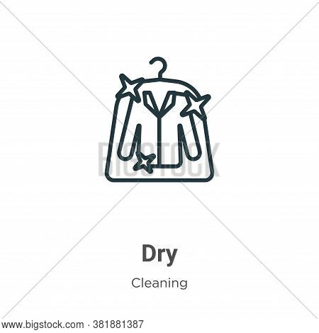 Dry icon isolated on white background from cleaning collection. Dry icon trendy and modern Dry symbo