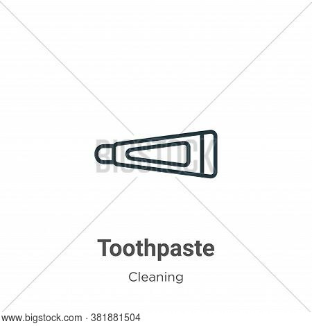 Toothpaste icon isolated on white background from cleaning collection. Toothpaste icon trendy and mo