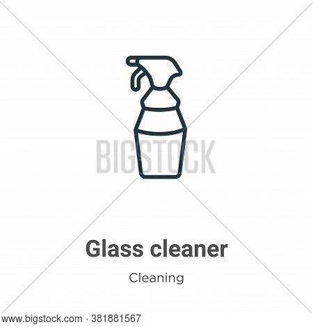 Glass cleaner icon isolated on white background from cleaning collection. Glass cleaner icon trendy