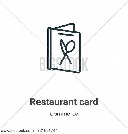 Restaurant card icon isolated on white background from commerce collection. Restaurant card icon tre