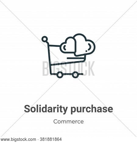 Solidarity purchase icon isolated on white background from commerce collection. Solidarity purchase