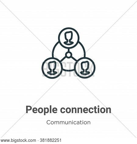 People connection icon isolated on white background from communication collection. People connection
