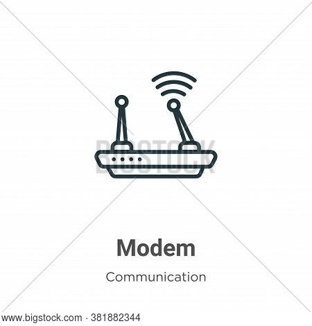 Modem icon isolated on white background from communication collection. Modem icon trendy and modern