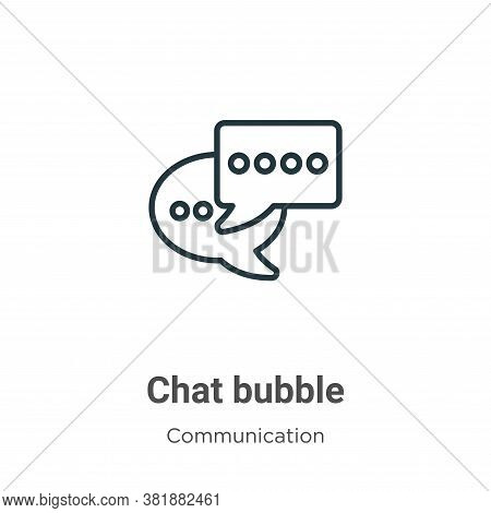 Chat bubble icon isolated on white background from communication collection. Chat bubble icon trendy