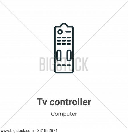 Tv controller icon isolated on white background from computer collection. Tv controller icon trendy