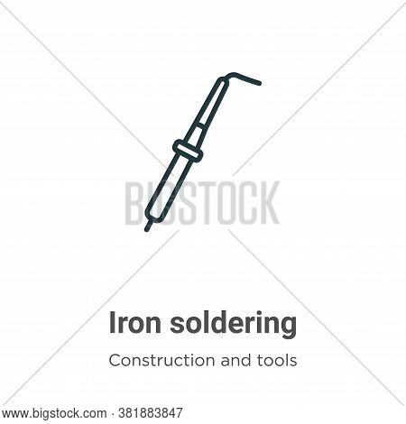 Iron soldering icon isolated on white background from construction and tools collection. Iron solder