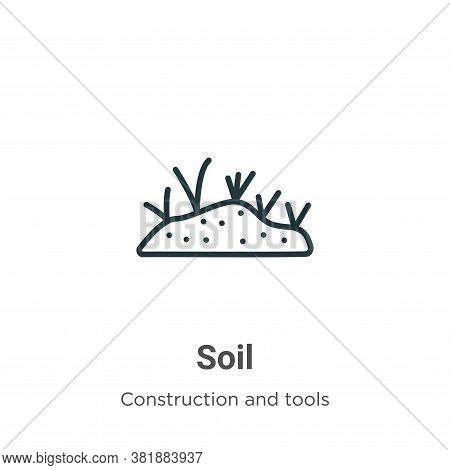 Soil icon isolated on white background from construction and tools collection. Soil icon trendy and