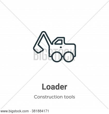 Loader icon isolated on white background from construction tools collection. Loader icon trendy and