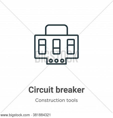 Circuit breaker icon isolated on white background from construction collection. Circuit breaker icon