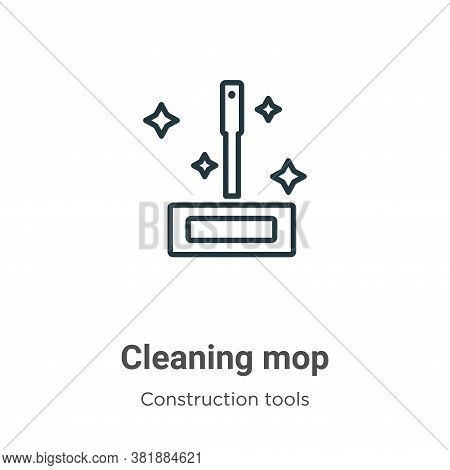 Cleaning mop icon isolated on white background from tools collection. Cleaning mop icon trendy and m