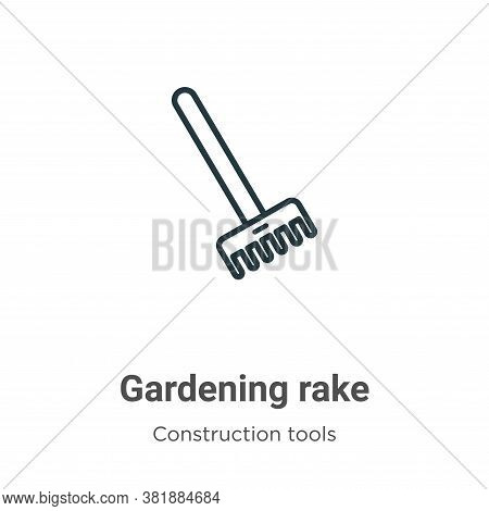 Gardening rake icon isolated on white background from tools collection. Gardening rake icon trendy a