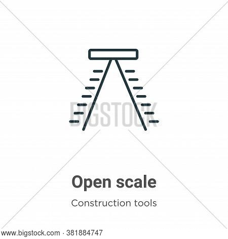 Open scale icon isolated on white background from tools collection. Open scale icon trendy and moder