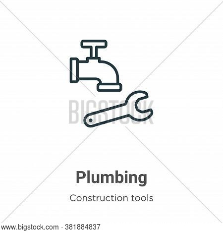 Plumbing icon isolated on white background from tools collection. Plumbing icon trendy and modern Pl