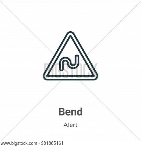 Bend icon isolated on white background from alert collection. Bend icon trendy and modern Bend symbo