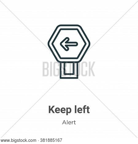 Keep left icon isolated on white background from alert collection. Keep left icon trendy and modern