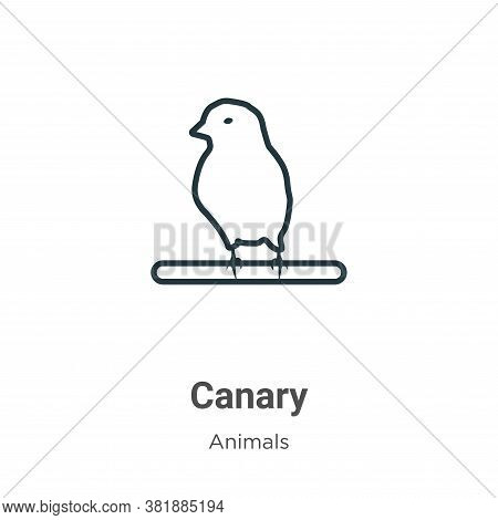Canary Icon From Animals Collection Isolated On White Background.