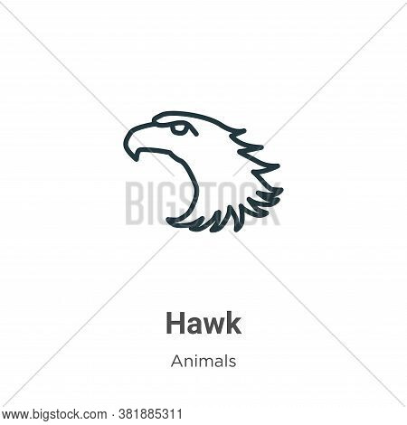 Hawk icon isolated on white background from animals collection. Hawk icon trendy and modern Hawk sym