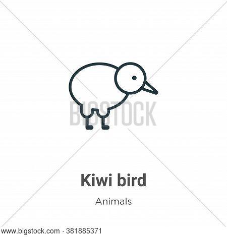 Kiwi bird icon isolated on white background from animals collection. Kiwi bird icon trendy and moder