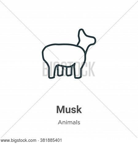 Musk icon isolated on white background from animals collection. Musk icon trendy and modern Musk sym