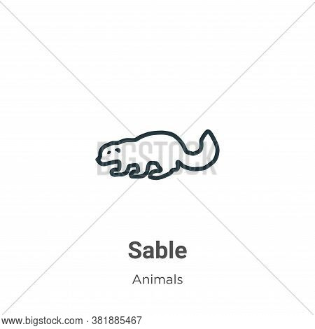 Sable Icon From Animals Collection Isolated On White Background.