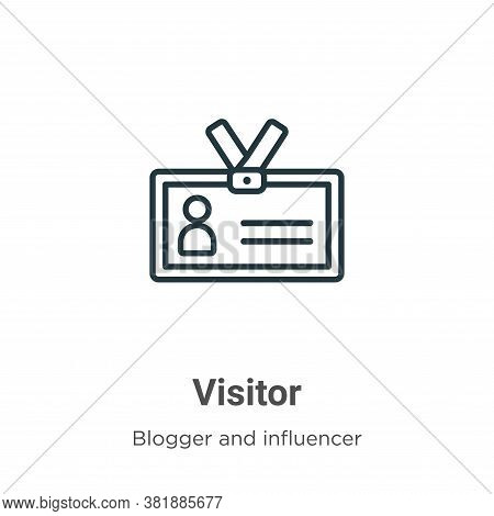 Visitor Icon From Blogger And Influencer Collection Isolated On White Background.