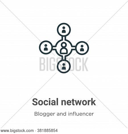 Social network icon isolated on white background from blogger and influencer collection. Social netw