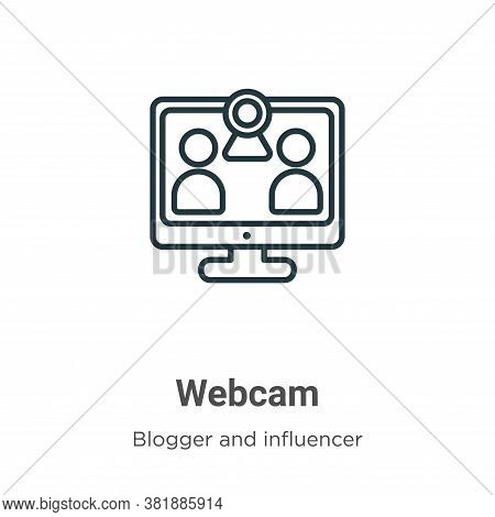 Webcam icon isolated on white background from blogger and influencer collection. Webcam icon trendy