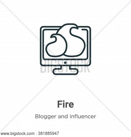 Fire icon isolated on white background from blogger and influencer collection. Fire icon trendy and