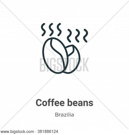 Coffee beans icon isolated on white background from brazilia collection. Coffee beans icon trendy an