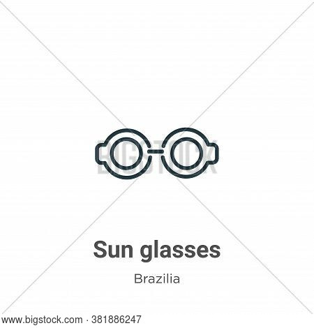 Sun glasses icon isolated on white background from brazilia collection. Sun glasses icon trendy and