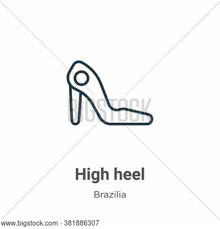 High Heel Icon From Brazilia Collection Isolated On White Background.