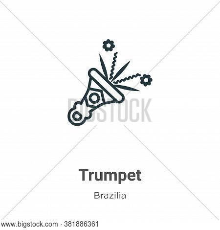 Trumpet icon isolated on white background from brazilia collection. Trumpet icon trendy and modern T